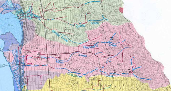 Historic Creek Maps on